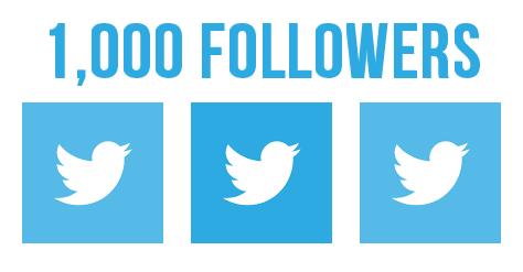 One thousand Twitter followers
